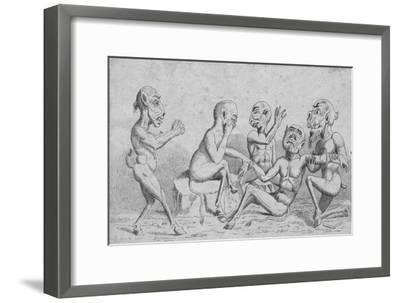 'Devils at Home - Breathing a Vein', c19th century-Unknown-Framed Giclee Print