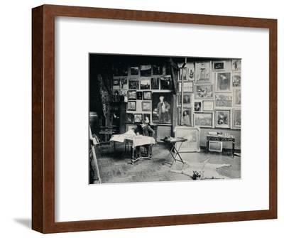 'P. Roll in his Studio', c1897-Unknown-Framed Photographic Print
