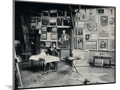 'P. Roll in his Studio', c1897-Unknown-Mounted Photographic Print