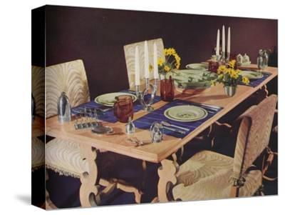A dining table, c1939-Unknown-Stretched Canvas Print