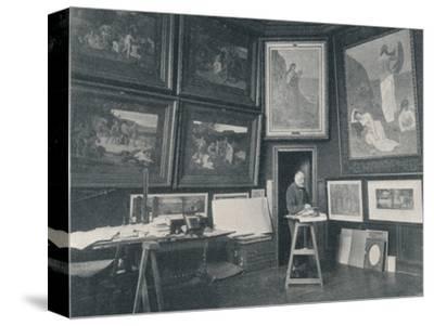 'Puvis De Chavannes in his Studio', c1897-Unknown-Stretched Canvas Print
