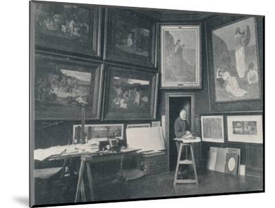 'Puvis De Chavannes in his Studio', c1897-Unknown-Mounted Photographic Print