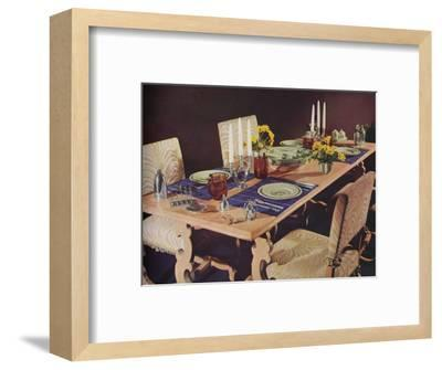 A dining table, c1939-Unknown-Framed Photographic Print