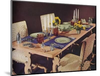 A dining table, c1939-Unknown-Mounted Photographic Print