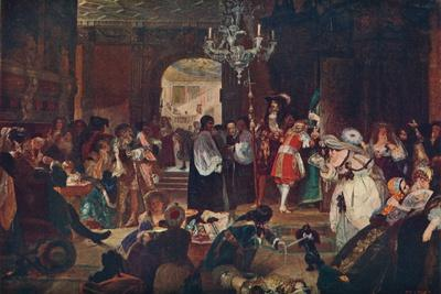 'Antechamber at Whitehall during the Dying Moments of Charles II, 1685' (1905)-Unknown-Framed Giclee Print