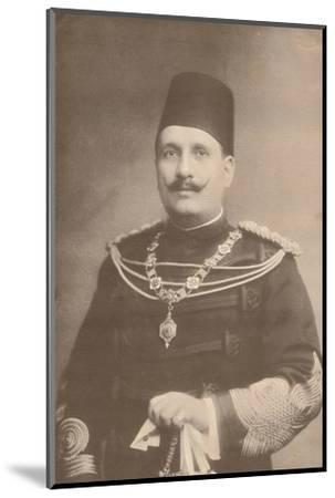 King Fuad I of Egypt, c1922-c1933-Unknown-Mounted Photographic Print