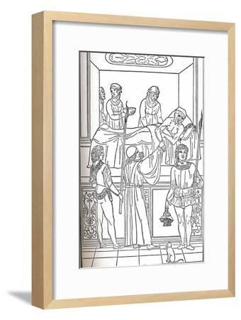 'Ketham: Fasciculus Medicinae, Venice, 1493, The Treatment Of The Plauge', c1493-Unknown-Framed Giclee Print