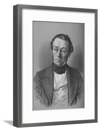 Richard Cobden, British manufacturer, politician, and free trade campaigner, c1850-Unknown-Framed Giclee Print