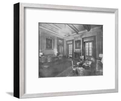 Reception room for the visit of King Victor Emmanuel III and Queen Elena of Italy to Cairo, c1933-Unknown-Framed Photographic Print