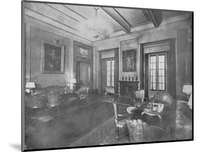 Reception room for the visit of King Victor Emmanuel III and Queen Elena of Italy to Cairo, c1933-Unknown-Mounted Photographic Print