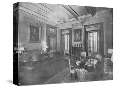 Reception room for the visit of King Victor Emmanuel III and Queen Elena of Italy to Cairo, c1933-Unknown-Stretched Canvas Print