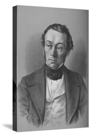 Richard Cobden, British manufacturer, politician, and free trade campaigner, c1850-Unknown-Stretched Canvas Print