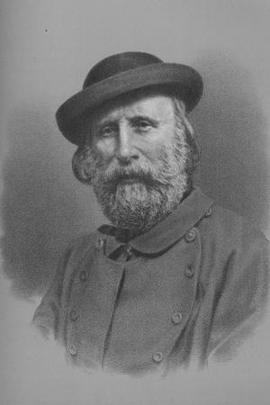 Giuseppe Garibaldi, Italian soldier and politician, 1860s (1936)-Unknown-Framed Giclee Print