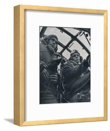 RAF bomber pilot and second pilot, 1941-Unknown-Framed Photographic Print