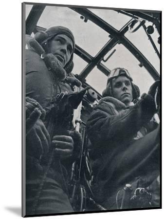 RAF bomber pilot and second pilot, 1941-Unknown-Mounted Photographic Print
