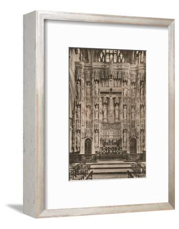 The reredos, Winchester Cathedral, Hampshire, early 20th century(?)-Unknown-Framed Photographic Print