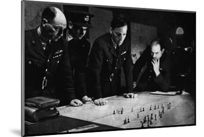 RAF Bomber Command operations room during a raid, 1941-Unknown-Mounted Photographic Print