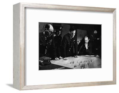 RAF Bomber Command operations room during a raid, 1941-Unknown-Framed Photographic Print