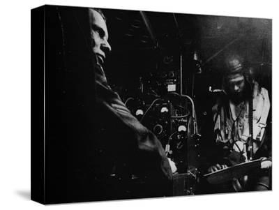 RAF bomber radio operator, 1941-Unknown-Stretched Canvas Print