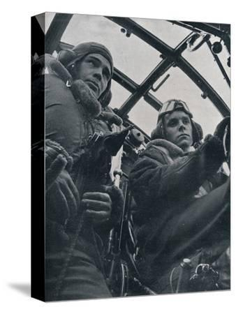 RAF bomber pilot and second pilot, 1941-Unknown-Stretched Canvas Print