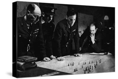 RAF Bomber Command operations room during a raid, 1941-Unknown-Stretched Canvas Print