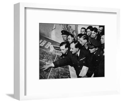 'The target to-night is...', 1941-Unknown-Framed Photographic Print