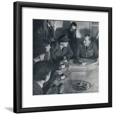 'The raid is over, but the crew's task is not yet finished', 1941-Unknown-Framed Photographic Print