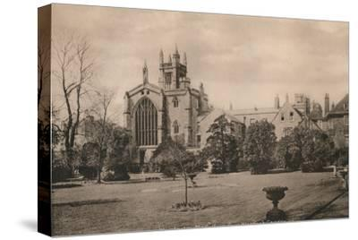 Winchester College from the Warden's Garden, Hampshire, early 20th century(?)-Unknown-Stretched Canvas Print
