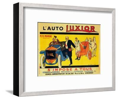 Advertisement for Luxior cars, c1912-1914-Unknown-Framed Giclee Print