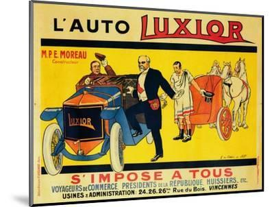 Advertisement for Luxior cars, c1912-1914-Unknown-Mounted Giclee Print