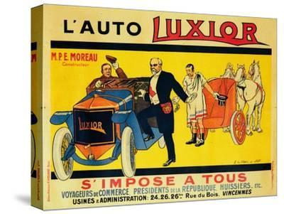 Advertisement for Luxior cars, c1912-1914-Unknown-Stretched Canvas Print