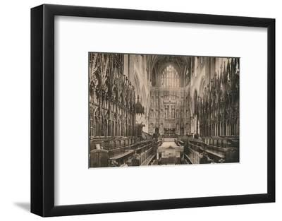 Choir of Winchester Cathedral, Hampshire, early 20th century(?)-Unknown-Framed Photographic Print