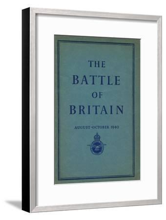 Front page of The Battle of Britain, 1940-Unknown-Framed Giclee Print