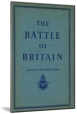 Front page of The Battle of Britain, 1940-Unknown-Mounted Giclee Print