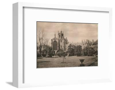 Winchester College from the Warden's Garden, Hampshire, early 20th century(?)-Unknown-Framed Photographic Print