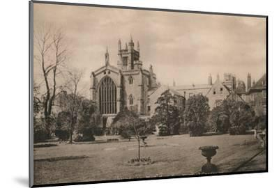 Winchester College from the Warden's Garden, Hampshire, early 20th century(?)-Unknown-Mounted Photographic Print