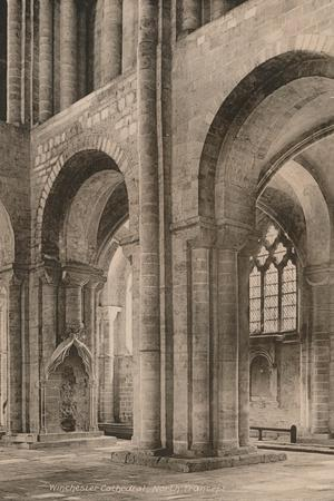 North transept of Winchester Cathedral, Hampshire, early 20th century(?)-Unknown-Framed Photographic Print