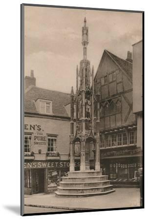 The Buttercross, Winchester, Hampshire, early 20th century(?)-Unknown-Mounted Photographic Print