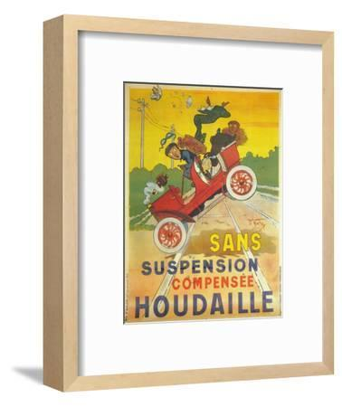 Advertisement for Houdaille car suspension, c1900-Unknown-Framed Giclee Print