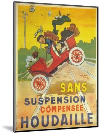 Advertisement for Houdaille car suspension, c1900-Unknown-Mounted Giclee Print