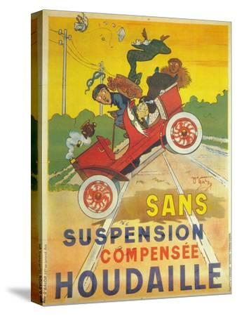 Advertisement for Houdaille car suspension, c1900-Unknown-Stretched Canvas Print