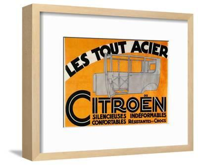 Advertisement for all-steel Citroen cars, c1924-Unknown-Framed Giclee Print
