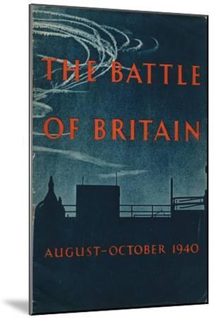 Front page of The Battle of Britain, 1943-Unknown-Mounted Giclee Print