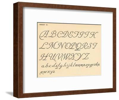 Sheet 10, from a portfolio of alphabets, 1929-Unknown-Framed Giclee Print