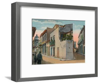 Calle Cuarteles, typical street scene in Old Havana, Cuba, c1920-Unknown-Framed Photographic Print