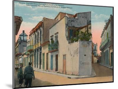 Calle Cuarteles, typical street scene in Old Havana, Cuba, c1920-Unknown-Mounted Photographic Print