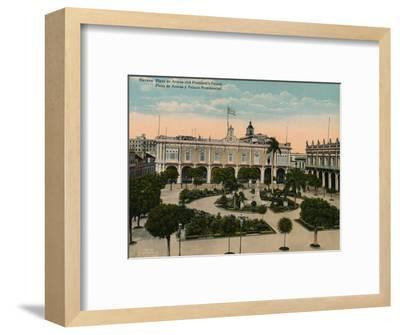 Plaza de Armas and Presidential Palace, Havana, Cuba, c1920-Unknown-Framed Photographic Print