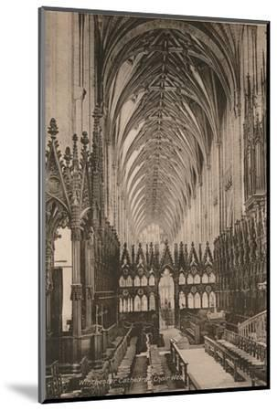 Choir of Winchester Cathedral, Hampshire, early 20th century(?)-Unknown-Mounted Photographic Print