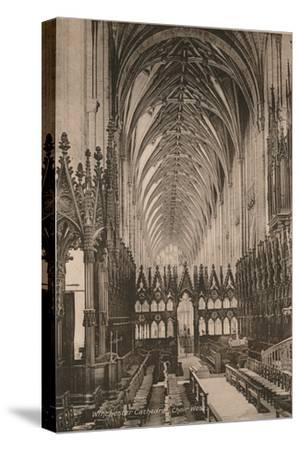 Choir of Winchester Cathedral, Hampshire, early 20th century(?)-Unknown-Stretched Canvas Print
