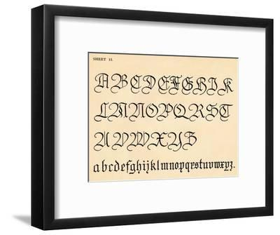 Sheet 15, from a portfolio of alphabets, 1929-Unknown-Framed Giclee Print
